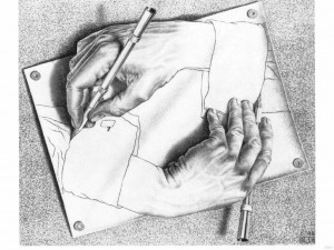 MC Escher - Drawing Hands