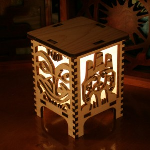 Laser Cut Lamp Curious Customs