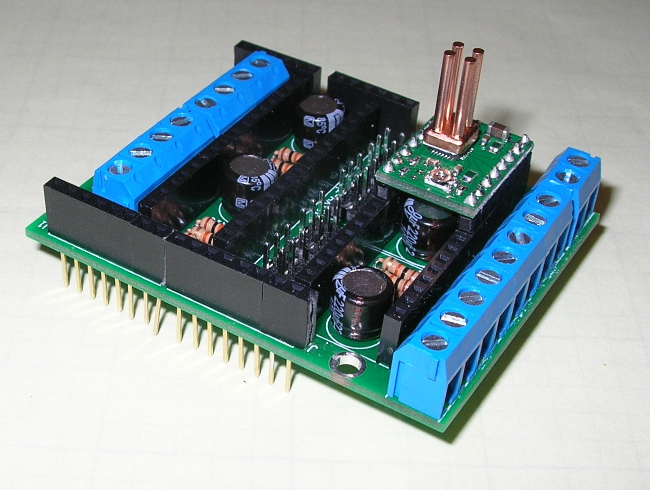 Stepper driver arduino shield at buildlog net blog for Arduino and stepper motor
